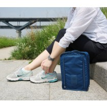 กระเป๋าใส่รองเท้า Shoes Pouch สำหรับเดินทาง กันน้ำ ขนาด 21 x 30 x 11.5 ซม. — สีน้ำเงิน