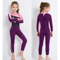 ชุดว่ายน้ำเด็กเก็บอุณหภูมิ Dive & Sail กันแดด UPF 50+ ชุดว่ายน้ำเก็บอุณหภูมิ เนื้อผ้าหนา 2.5 มิลลิเมตร — สีชมพู