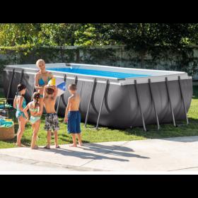 สระว่ายน้ำพร้อมโครง ติดตั้งง่าย intex frame pool 28352 ขนาด 549x274x132 cm 126kg